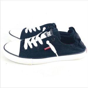 Levi's Women's Shoes 7.5 Stan G Black Canvas (113F